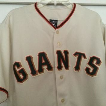 Sale!! Vinatge SF San Francisco Giants baseball jersey MLB shirt size Larhe Free US sh