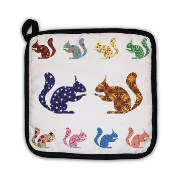 Potholder, Pattern With Squirrels