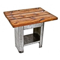 c. 1930's streamlined style vintage industrial arbor press machine base with spacious pine wood tabletop - Furniture - Shop