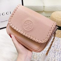 Tory Burch Fashion New Leather High Quality Chain Shopping Leisure Crossbody Shoulder Bag Women Pink