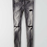 AEO Denim X Super Low Jegging, Dark Granite