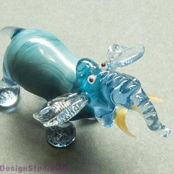 Glass Figurine glass elephant glass animals elephant Glass figurines murano glass