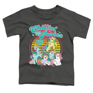 My Little Pony Toddler T-Shirt Chillin with my Ponies Charcoal Tee