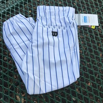 WILSON NEW Youth White & Blue Striped Baseball Pants, Size XL