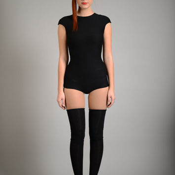 Sexy Black Bodysuit, Party Leotard, Cap Sleeve Romper, Shorts Bodysuit, Elastic Bodysuit, Sexy Overall, Short Romper, Party Clothing