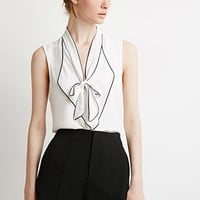 Bow-Front Ruffle Top