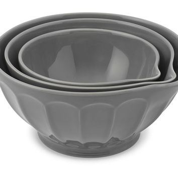Latte Mixing Bowl with Spout, Set of 3