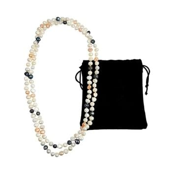 "PremiumConnection 47"" Baroque Pearl Necklace"