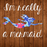 Lilly Pulitzer Mermaid Decal For Yeti Tumblers, Cars, and Tech Devices