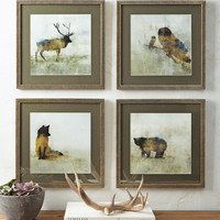"""Forest Animals"" Prints, 4-Piece Set - Neiman Marcus"