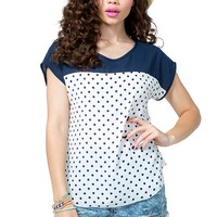 Blocked Dot Tee