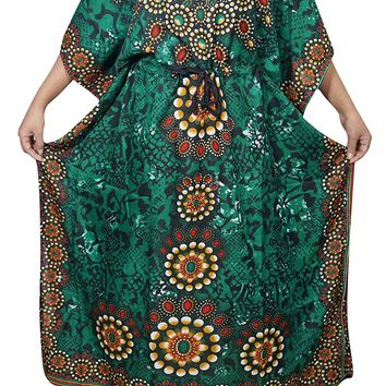 Mogul Womens Maxi Caftan Cruise Cover Up Dress Holiday Kaftan One Size: Amazon.ca: Clothing & Accessories