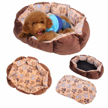 Pet Dog Cat Soft Bed Comfortable Puppy Plush House Nest Sleep Warm Hot Sale Puppy Dog Soft Sofa Dog Bed Goods
