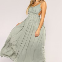 Ancient Rome Dress - Sage