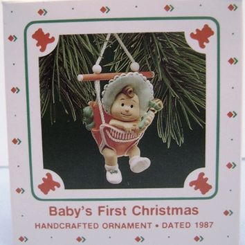 1987 Baby's First Christmas Hallmark Retired Ornament