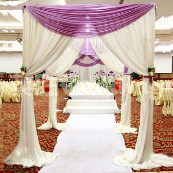 Wedding Arch Square Pavilion Backdrop Curtains Wedding Decoration Canopy