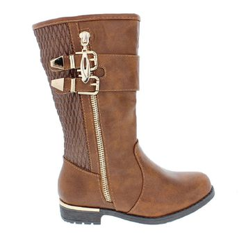 Kids 2Buckle Zipper Boot