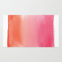 Summer Sunset Area & Throw Rug by Social Proper