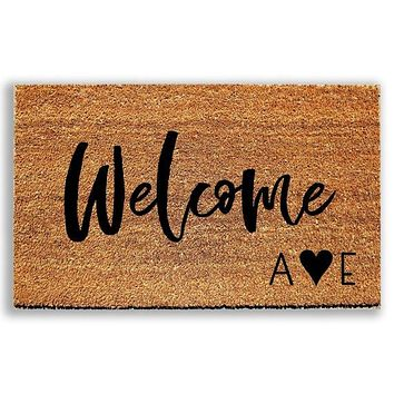 Personalized Welcome Doormat with Initials