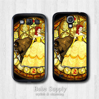 Disney Samsung Galaxy S4 case, Galaxy S3 case - Princess Beauty And The Beast - Galaxy s3 s4 cover