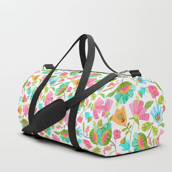 Cut Flowers Duffle Bag by heatherduttonhangtightstudio