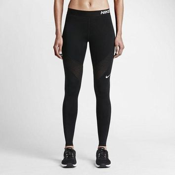 DCCKH3F Nike Pro Running Power Epic Lx Leggings With Mesh Panels