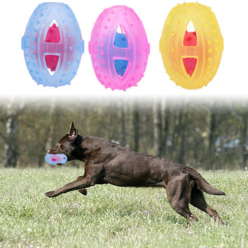 Newest Pet Toys TPR Rubber Rugby Ball Toy Puppy Dog Training Bite Resistant Chew Toys Pet Tooth Cleaner