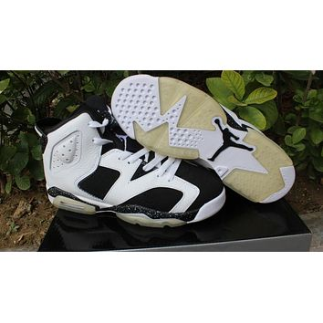 Air Jordan retro 6 oreo low women men basketball shoes 2016 US size 5.5-13 sneakers black infrared 3M