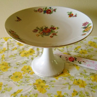 Antique Porcelain Cake Stand, Bloch and Co, Eichwald Czechoslovakia, Bernard Bloch China, Vintage Cake Stand, Antique Cake Stand Cake Plate