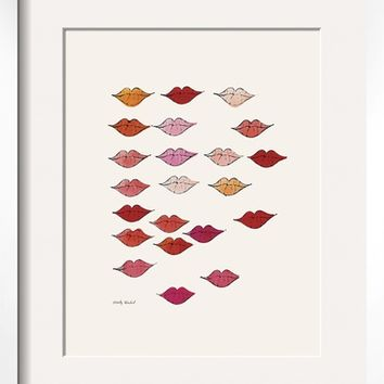 Stamped Lips, c. 1959 Art Print by Andy Warhol at Art.com