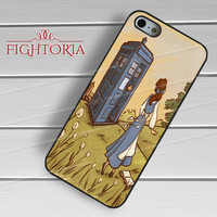 Belle and Tardis - zFz for  iPhone 4/4S/5/5S/5C/6/6+s,Samsung S3/S4/S5/S6 Regular/S6 Edge,Samsung Note 3/4