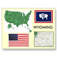 Wyoming, USA Postcards from Zazzle.com