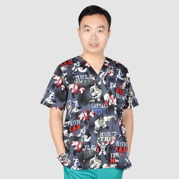 Hennar Men uniform medical, scrub top with V neck