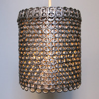 Soda Can Tab Pendant Light  Small EcoFriendly by Zipper8Lighting