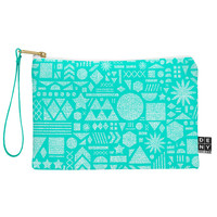 Nick Nelson Modern Elements In Turquoise Pouch