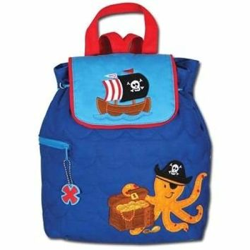 Pirate Octopus Quilted Kids Back Packs