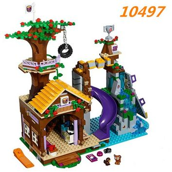 Bela 10497 Adventure Camp Tree House Building Block Set Stephanie Emma Joy Figures Girls Toy Compatible with Blocks