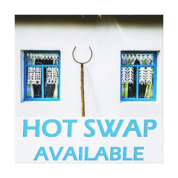 Hot swap available canvas print