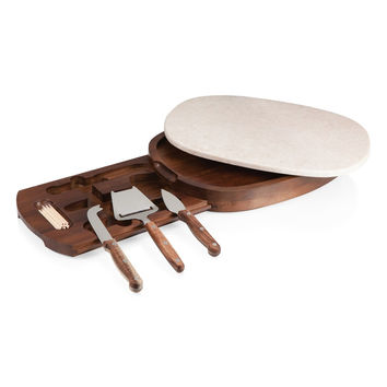 'Legacy Heritage Collection by Fabio Viviani - Carrara' Marble & Wood Cheese Board