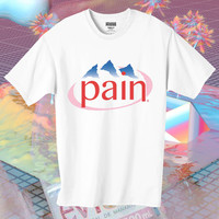 PAIN evian water sad tshirt baby cyberpunk pink cute japanese vaporwave style from DOES IT EVEN MATTER