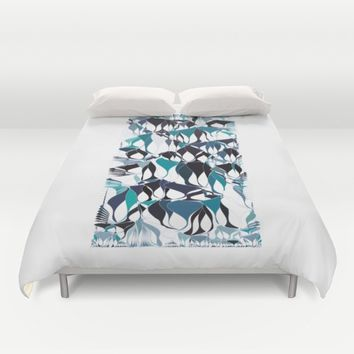 Abstract waves Duvet Cover by VanessaGF
