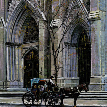 St. Patricks Cathedral New York Canvas Fine Art Print