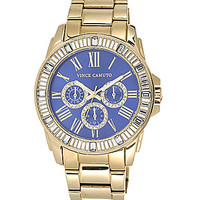 Vince Camuto Gold-Tone Crystal Bezel Chronograph Watch - Gold