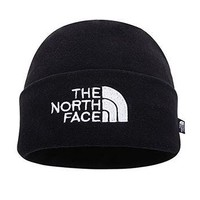 The North Face Double Layers Winter Thicken Polar Fleece Thermal Beanie Hat (Black, On