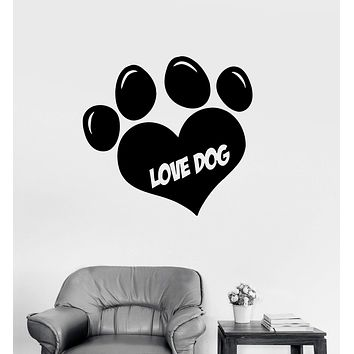 Vinyl Decal Dog Paws Pets Animal Baby Room Kids Art Wall Stickers Unique Gift (i001)