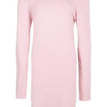 Tall Sady Knitted Off The Shoulder Dress | Boohoo
