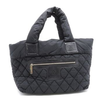Chanel Quilted Nylon Coco Cocoon Tote Bag Black 7955