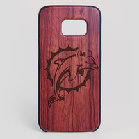 Miami Dolphins Galaxy S7 Edge Case - All Wood Everything