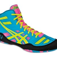 JB Elite Wrestling Shoes (Teal/ Yellow/Pink)