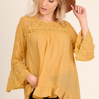 Button Back Honey Lace Tunic